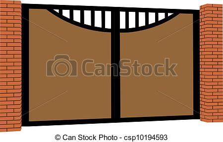 Brown clipart gate Panda Images Free Clipart Gate