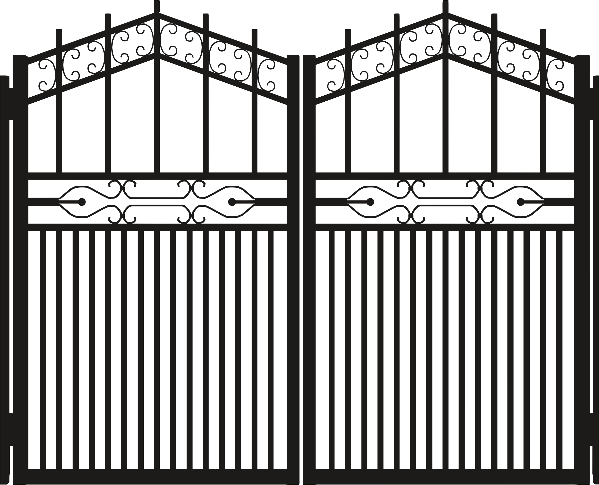 Gate clipart iron gate Iron Gate Silhouette Silhouette Clipart