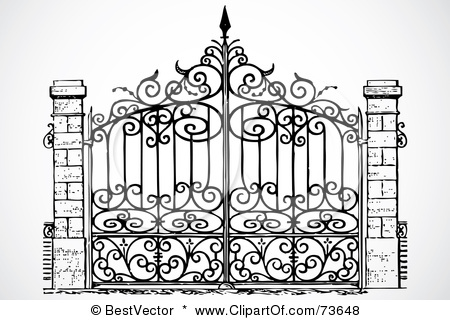 Gate clipart iron gate Clipart collection gate Illustration Free