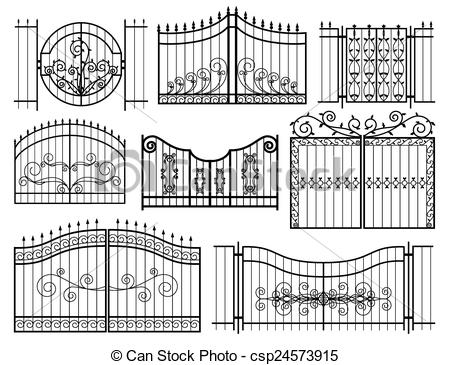 Gate clipart iron gate A with  Iron Gates