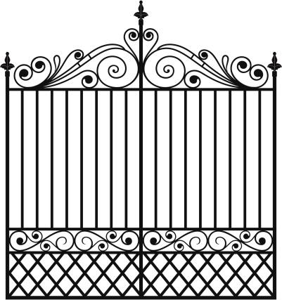 Gate clipart iron gate Gate csp12695520 Iron gate clipart