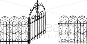 Gate clipart iron gate Decorations Wedding Clipart and White