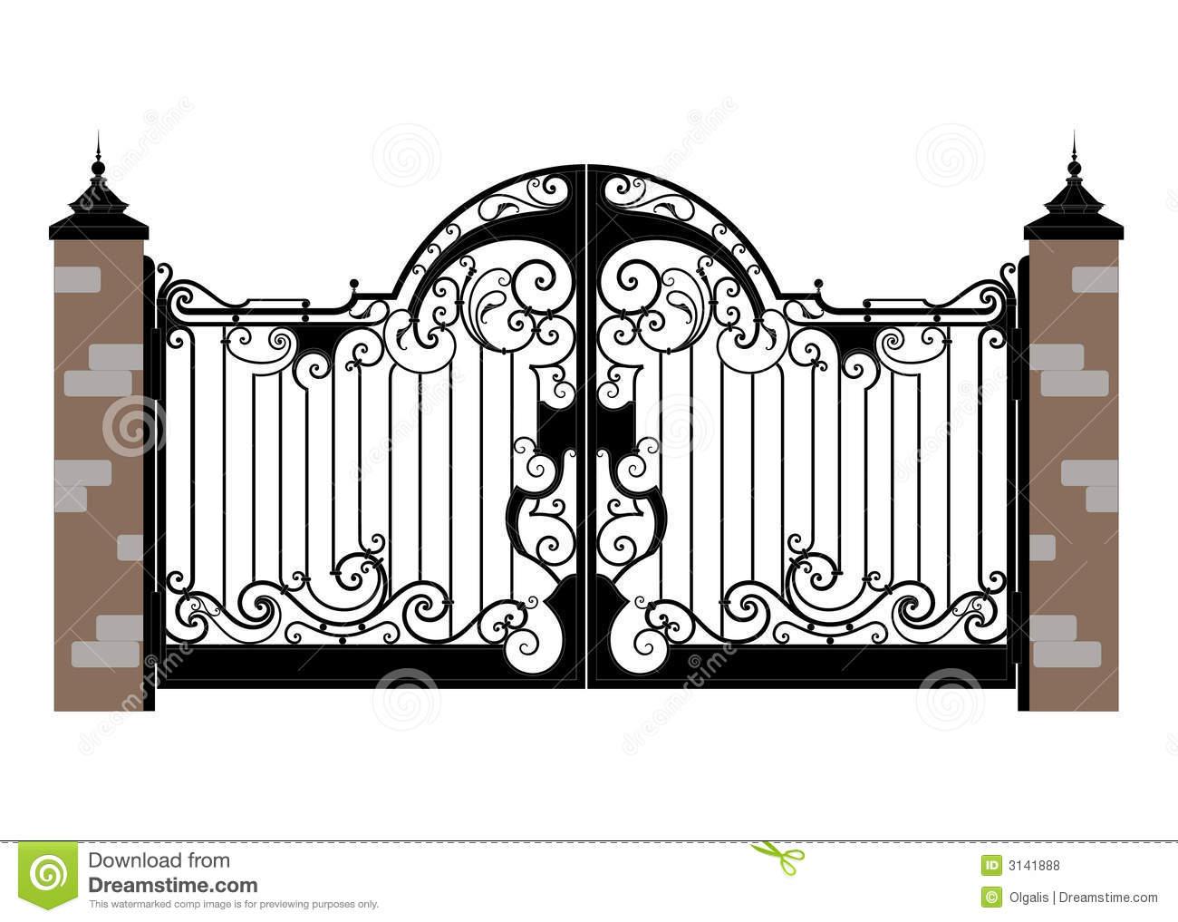 Gate clipart iron gate Csp12695520 gate gate  Clipart
