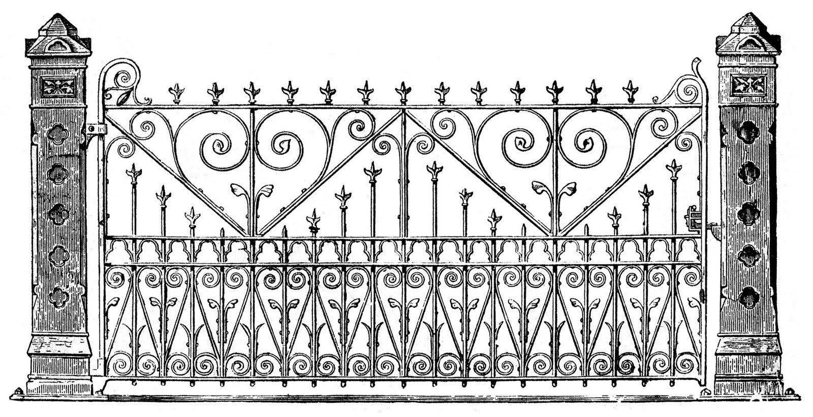 Gate clipart iron gate Fairy Graphics Clip Art Victorian