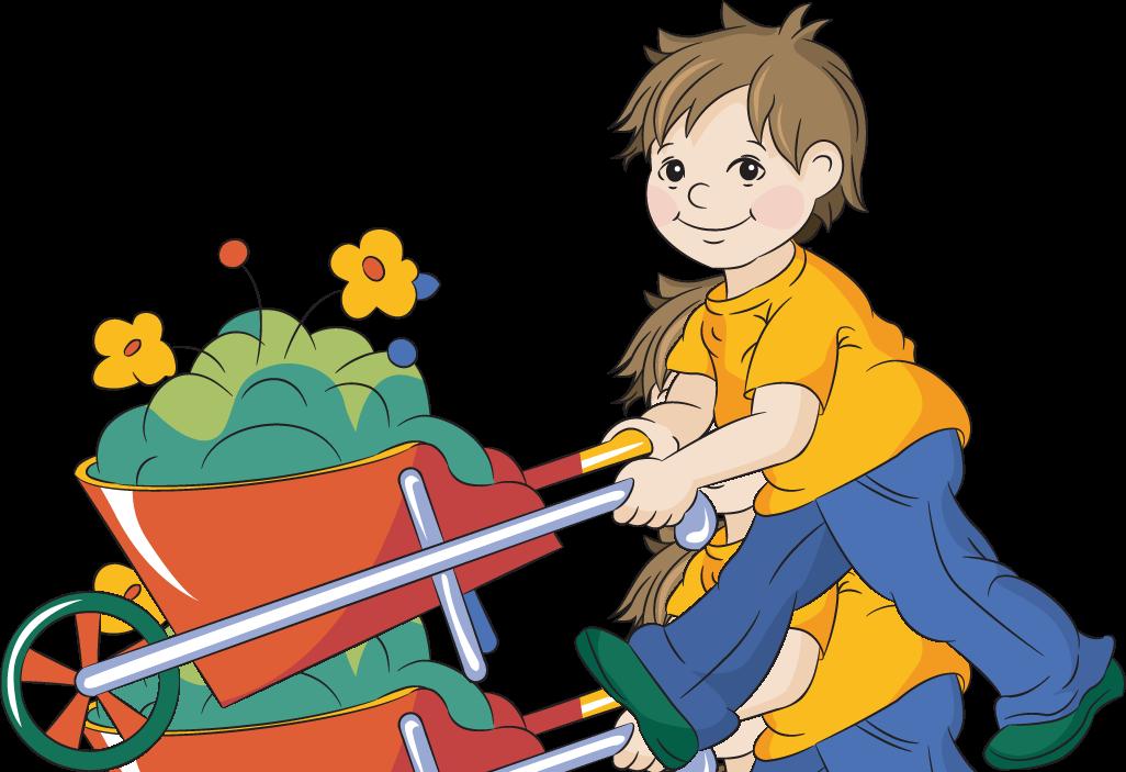 Boy clipart gardening Garden Free collection clipart Clipart