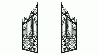 Gate clipart open gate Garden gate of cliparts Collection