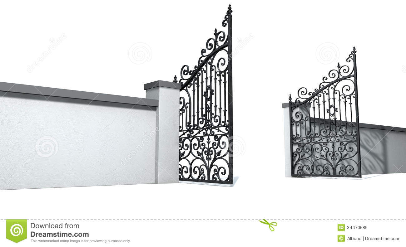 Heaven clipart gates opening Clipart of Clipart Open Gate