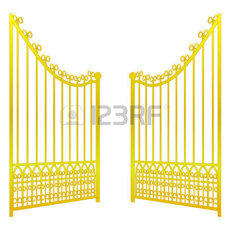 Gate clipart open gate Fence Heaven Gates collection 944