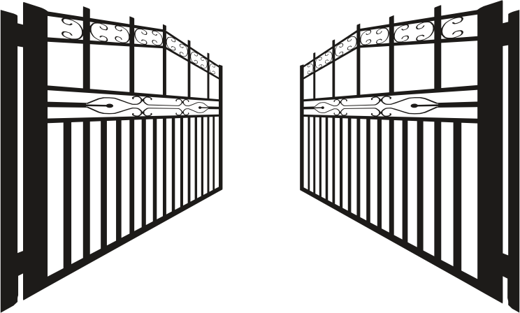 Gate clipart open gate Opened Iron Iron Clipart Clipart