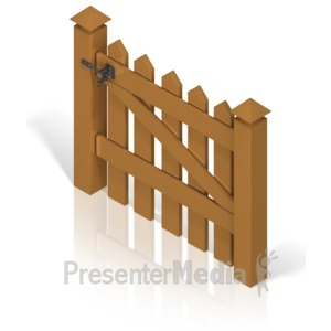 Gate clipart open gate Back Custom Fence Clipart and