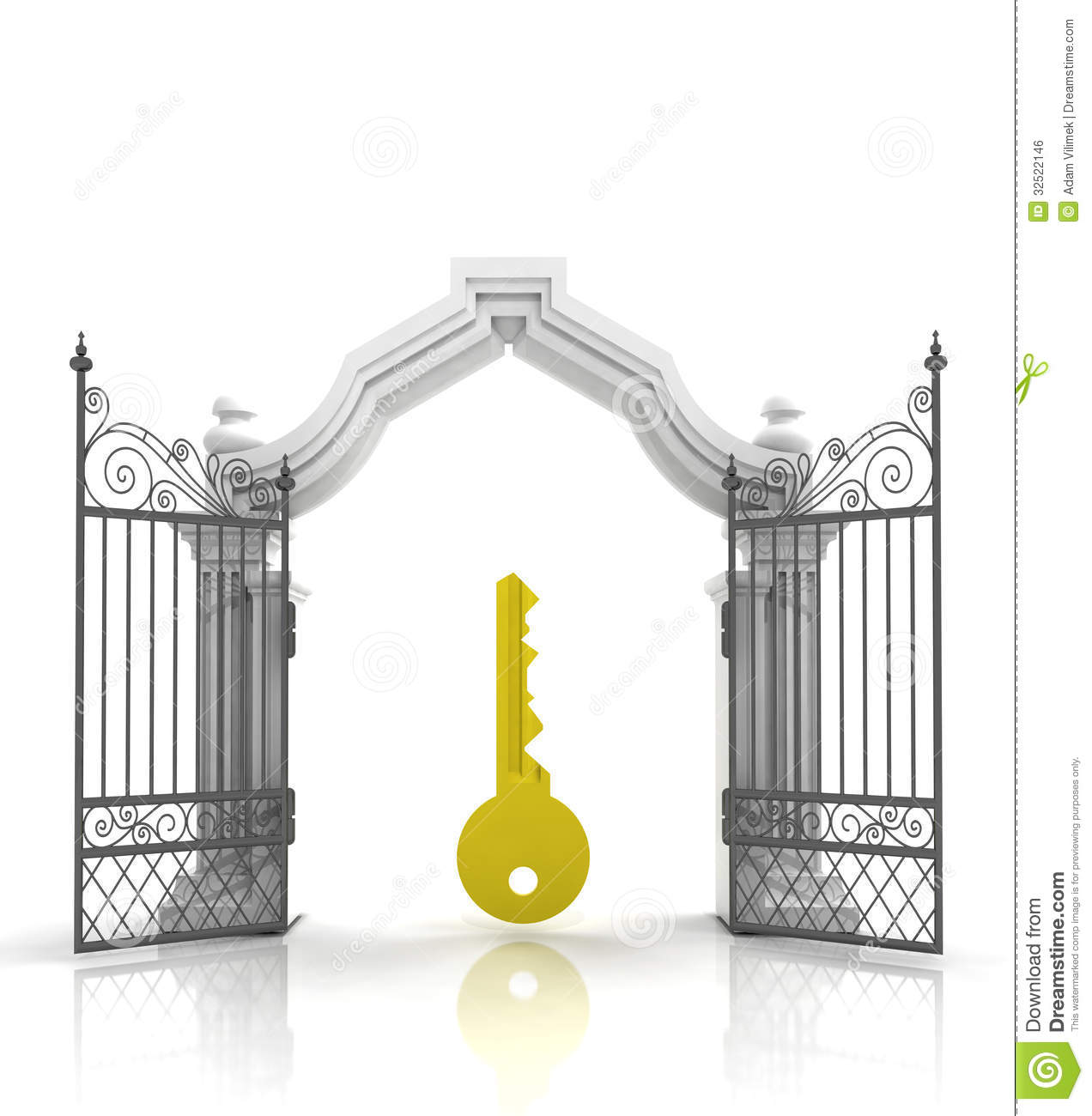 Heaven clipart gates opening Cps With Golden Open Free