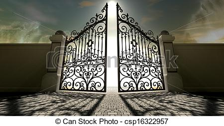Heaven clipart heaven's gate Ornate csp16322957 Stock Open Heavens