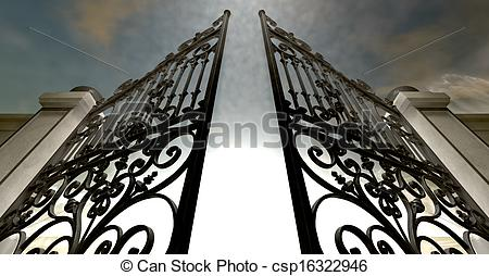 Heaven clipart gates opening  Gates csp16322946 of Heavens