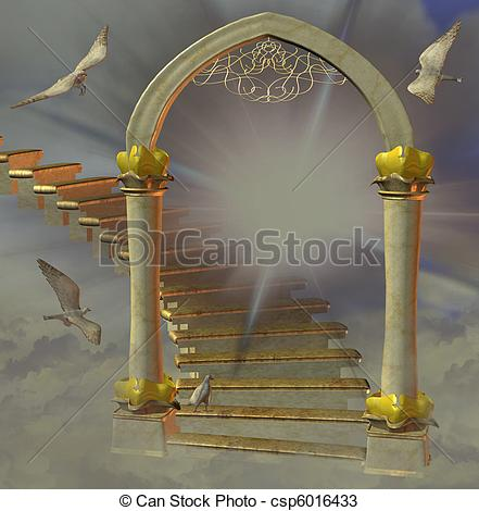 Heaven clipart open gate Illustration Stock and gate Illustrations
