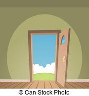 Gate clipart open house Cartoon Vector Open art the