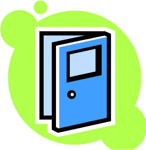 Door clipart open door #6