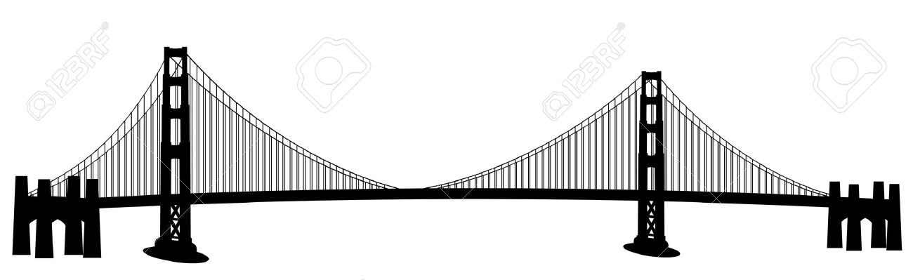 Bridge clipart black and white Bridge bridge%20clipart Art Images Outline