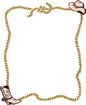 Square clipart rope Western Art Clip Border Picturespidercom