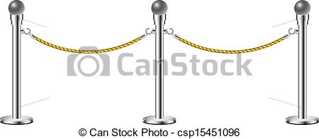 Gate clipart rope Stand white rope Vectors isolated