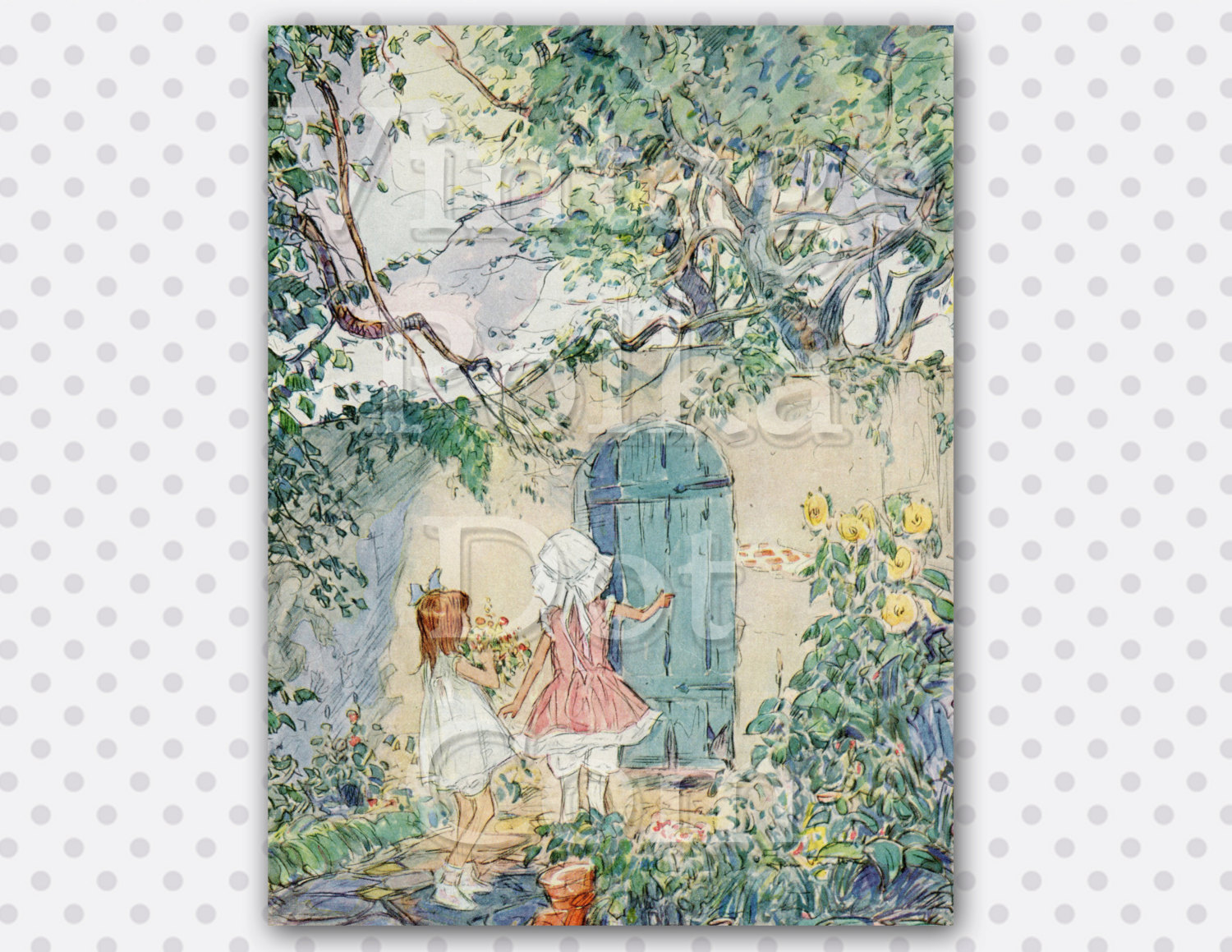 Gate clipart secret garden Gate Children Print Trees
