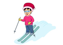 Snowboarding clipart downhill Kb Pictures Clip skiing Sports
