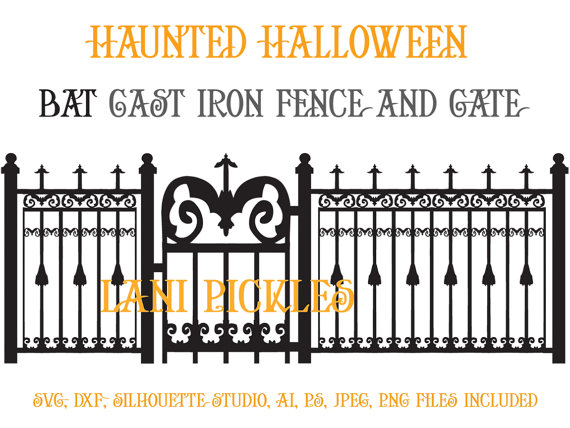 Spooky clipart fence Gate Design Cut Fence