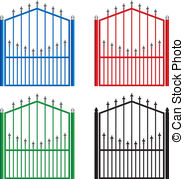 Gate clipart stell And Metal Gate royalty Gate