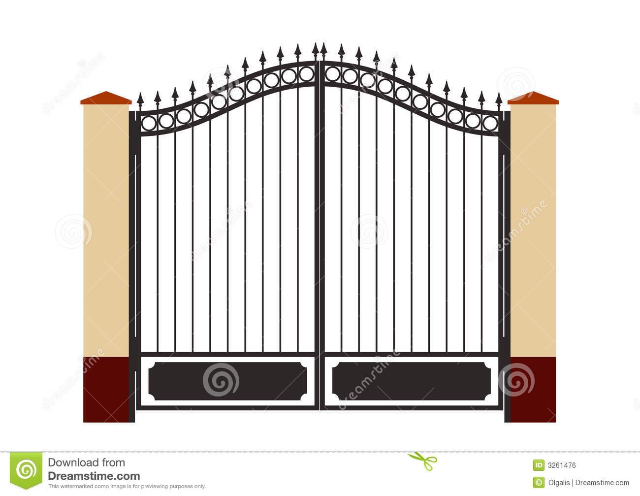 Gate clipart stell Gate Iron gate silhouette csp12695520