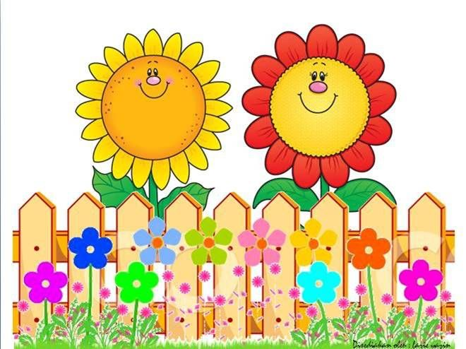 Wildflower clipart fence And Clip SUNFLOWER fences Sunflowers