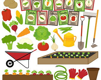 Background clipart vegetable garden #6