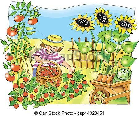 Gate clipart vegetable patch  Garden Clipart Garden Clip