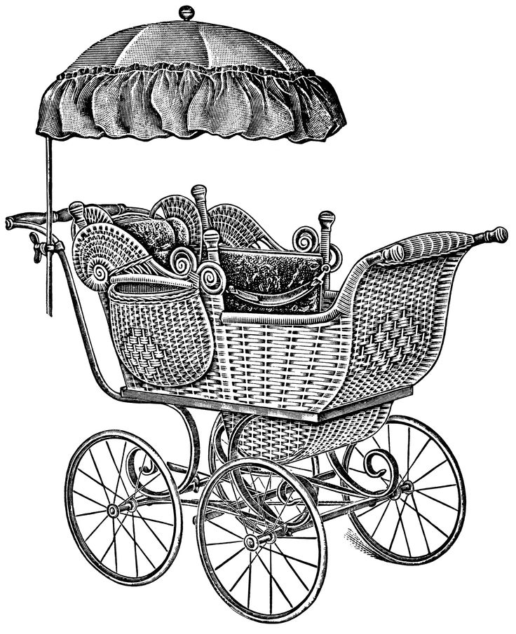 Classic clipart vintage On Digital images Black Carriage