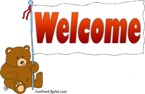 Moving clipart welcome #1