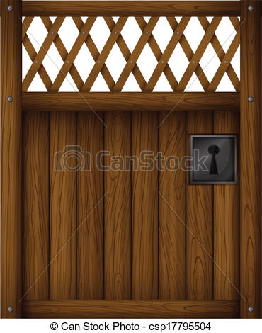 Gate clipart wood gate Gate Illustration  A wooden
