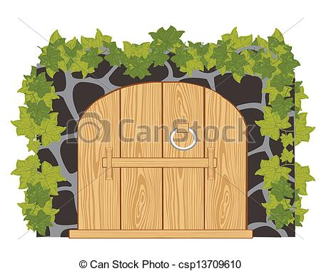 Gate clipart wood gate From stone  Wooden Wall