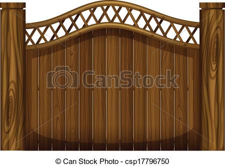 Brown clipart gate Csp17796750 of gate Clipart A
