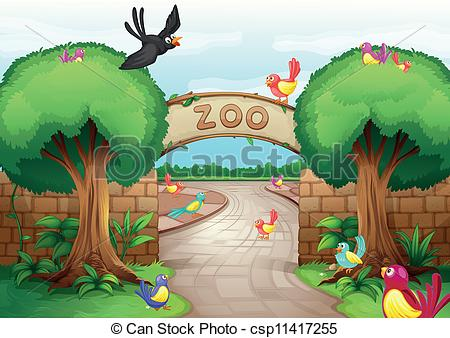 Pathway clipart zoo  zoo of Zoo Vector