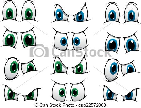 Gaze clipart Expression cartoon of eyes Clip