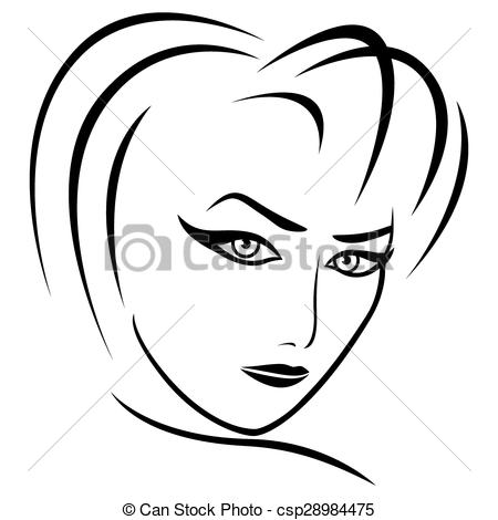 Gaze clipart Female female Abstract of Abstract