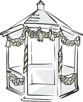 Gazebo clipart victorian Clip Free Colouring  Images