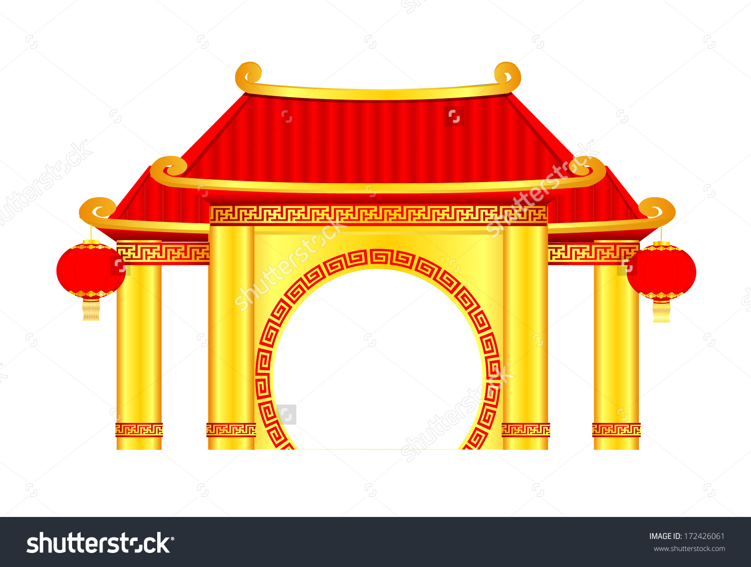 Gazebo clipart chinese Chinese clipart Vector Chinese Clipart