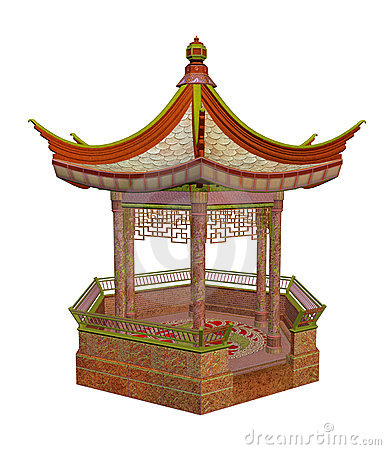 Gazebo clipart chinese Free pavilion Royalty  Collection