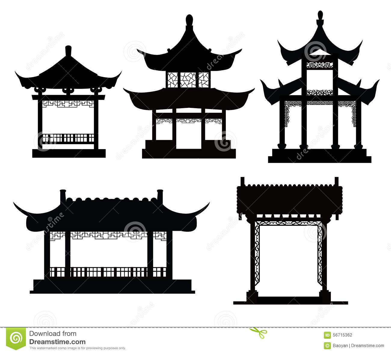 Gazebo clipart chinese Pavilion Clipart Chinese gate Collection