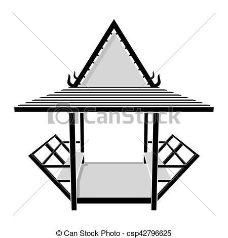 Gazebo clipart pavilion Thai vector vector of Pavilion