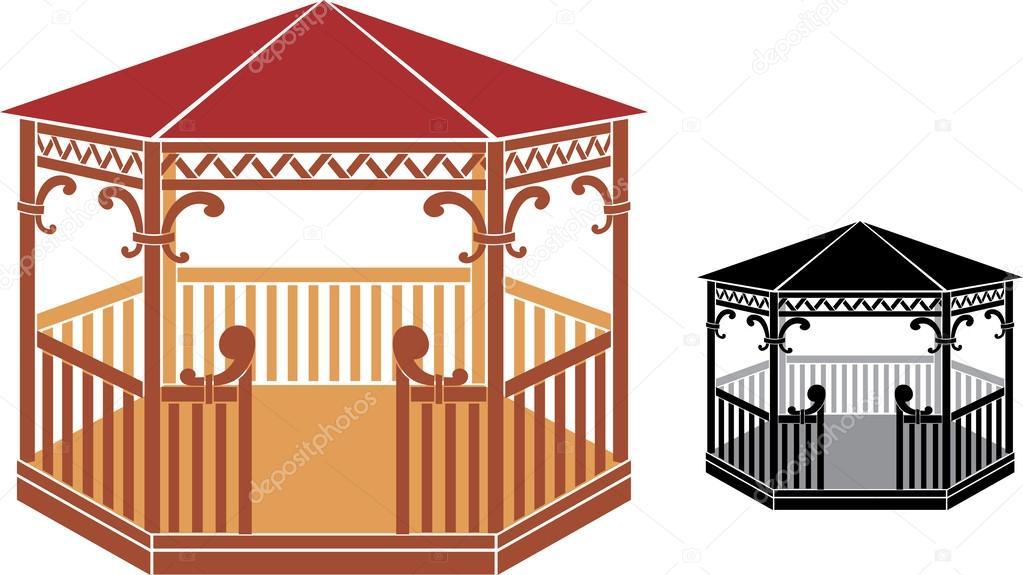 Gazebo clipart pavilion Tribaliumivanka Tribaliumivanka Vector Wooden by
