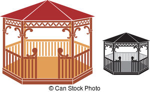 Gazebo clipart Illustrations 856 Arbor Art