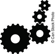 Gears clipart smart brain Illustrations 826 royalty  clip