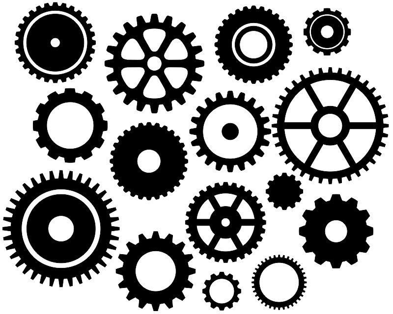 Machine clipart steampunk gear Black Art Clip this Gears