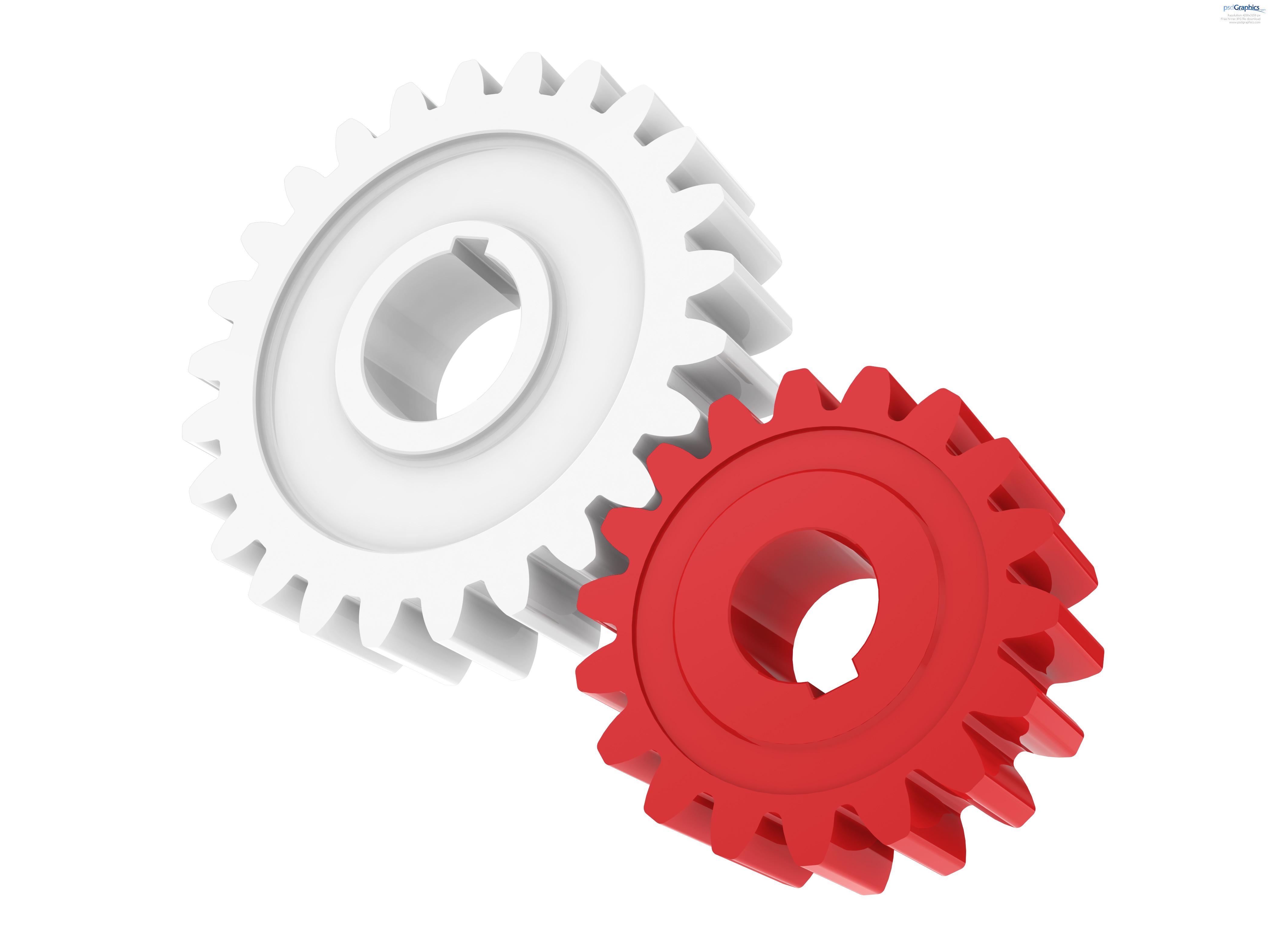 Gears clipart 3d gear Plastic gears success PSDGraphics gears