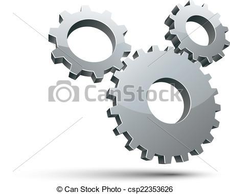 Gears clipart 3d gear  3d vector Vector 3
